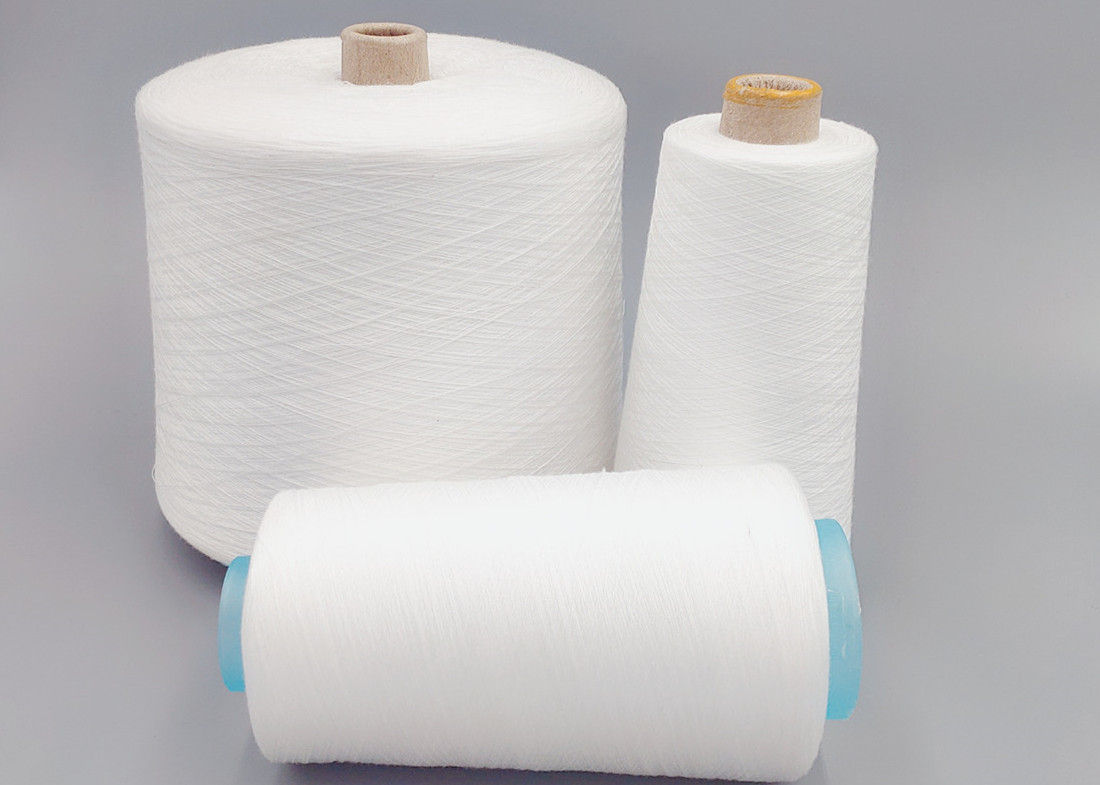 Polyester SP Yarn Thick Polyester Thread , 60/2 60/3 Bright Virgin Core Spun Thread